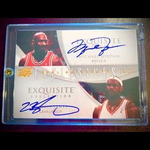 LeBron James & Michael Jordan Autographed RP Card
